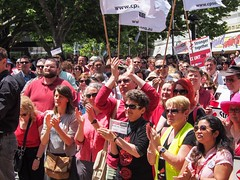 PB060075.jpg (Leo in Canberra) Tags: rally protest australia demonstration canberra act wearred countonme joinnow cpsu strongertogether garemaplace proudtobeunion 6november2014 rallytosafeguardyourrightspayandconditions