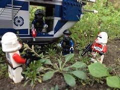 Uh.. sorry guys wrong gunship! (okoe74) Tags: trooper movie star lego secret police super troopers shock wars clone swat robo gunship coruscant