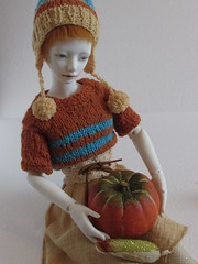 IMG_4484 (tarengil) Tags: blue autumn white fashion clothing doll knit sd luv bjd resin abjd dollmore zaoll
