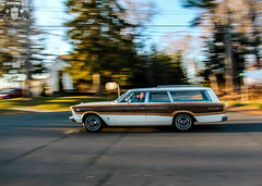 1966 Ford Country Squire Station Wagon (Rivitography) Tags: white newyork classic ford car canon vintage rebel automobile gm connecticut woody adobe american t3 expensive saloon rare stationwagon 1965 lightroom 2014 countrysquire ridgefield rivitography aw6173