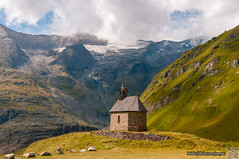 Pasterzenhaus Chapel (Pe_Wu) Tags: winkl kärnten austria national park hohe tauern grosglockner high alpine road chapel sky snow green landscape panorama alps clouds church rocks at glacier grossglockner ngc