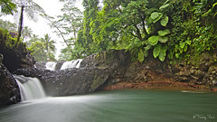 Togitogiga Waterfall (Tdyy) Tags: d7200 darktable dslr longexposure nikon ocean outdoor samoa southpacific ubuntu waterfall river nature tropical tokina 1116mm uwa uga ultra wide angle