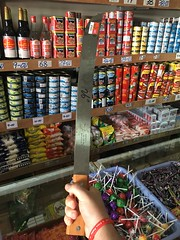 Went to a supermarket to look at Machete's!