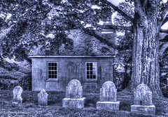 New England Historic Graveyard, Watertown CT (Skyelyte) Tags: graveyard tombstones headstones historic newengland building outdoors old tree foliage windows roof rural country monochrome blackandwhite outdoor architecture stone grave death explore flickrexplore explore157