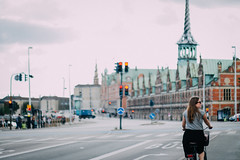 Biking through Copenhagen (freyavev) Tags: bike bicycle copenhagen kopenhagen person street streetphotography denmark dnemark danska vsco 50mm niftyfifty mikasniftyfifty outdoor urban