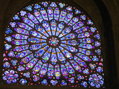 Paris - Notre Dame - stained glass window (bronxbob) Tags: paris france churches cathedrals architecture notredame notredamedeparis