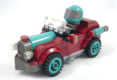 The Booger - Front (Unijob Lindo) Tags: lego vintage old timer oldtimer leg godt blocks bricks driver racer racing kart car vehicle race teal dark turquoise red darkred black grey gray retro windshield wheel tire turbo crankshaft shaft technic piston bush bushes visor figure fig ladders curved curve slope slopes trans transparent tile tiles round grille