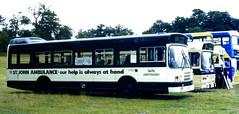 Slide 081-27 (Steve Guess) Tags: showbus woburn abbey buckinghamshire busks england gb uk wmpte leyland national sjab st johns ambulance