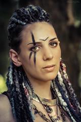 The lazy dweller (Fotografreek) Tags: elfia elfia2016 elfiaarcen fantasy cosplay cosplayer shaman warrior woman girl dreads dreadlocks madmax apocalypse