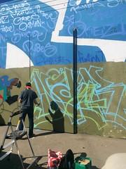 DAGR in progress (Busy, US) (Jonny Farrer (RIP) Revers, US, HTK) Tags: reversgraffiti uscrew halt reb voider voidr devo rvs revers htk us htkgraffiti usgraffiti sfgraffiti sanfranciscograffiti bayareagraffiti graffiti typography handstyles jonnyfarrer bsee bsie busy