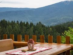"""Awaiting """"Brotzeit"""" (schauplatz) Tags: bayerischerwald bayerwald deutschland lamerwinkel urlaub landscape landschaft tisch table terrasse terrace outdoor"""
