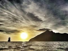 Kumba Volcano (@Mark_Eveleigh) Tags: asia asian indonesia nusa tenggara indonesian ship boat sail sailing cruise sea ocean dunia baru phinisi pinisi flores alor archipelago island kumba volcano sunset