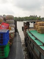 Dock chat (program monkey) Tags: chat captain vietnam mekong river delta cargo boat ben tre tra vinh