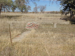128. A foundation right on the highway. There's several of these in this Ghost Town, Brantford, 11-5-16 (leverich1991) Tags: exploring kansas 2016 brantford ghost town washington store