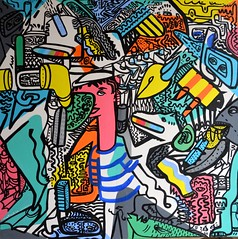 A cellular Transformation (MATLAKAS) Tags: berlin art market buyer explosive colourful need now painting crazy bruegel today painters matlakas only