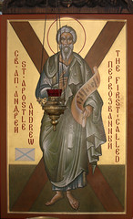 Icon of Saint Andrew (Lawrence OP) Tags: andrew saints apostle firstcalled icon stnicholas cathedral orthodox washingtondc saltire cross