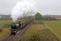 LMS 6201 Princess Elizabeth - Lower Moor (Andrew Edkins) Tags: 6201 princesselizabeth lowermoor cathedralsexpress mainlinesteam dull overcast geotagged worcestershire england uksteam steamtrain pacific canon railwayphotography winter 2016 power steam speed singletrack travel trip preserved heritage vintage october