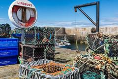 Fishing Gear - Portsoy (Geoff France) Tags: portsoy moray moraycoast landscape scottishlandscape scotland sea ocean trawler lobster lobsterpot harbour port fishingvillage fishing