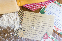 Time honored tradition (Mrsbridges2013) Tags: christmasmarket flickrfriday rollingpin messy recipes recipe handwriting flour family kitchen grandmother baking history story faceless sonya6000 sony