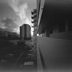 Home...rev 57 Ondu002 (Miroku Bosatsu) Tags: honolulu hawaii ondu pinhole caffenolc camera arista home homebrew blackandwhite monochrome makiki surfview