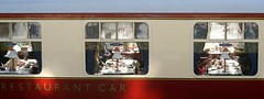 Luncheon is served! (SteveJM2009) Tags: swanage steam railway dorsetman diningcar restaurant car carriage station diners luncheon service dorset uk candid windows december 2016 stevemaskell
