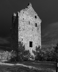Invermark Castle 15574 (Cal Fraser) Tags: glenesk invermarkcastle scotland unitedkingdom gb blackandwhite monochrome towerhouse fortification castle ruin