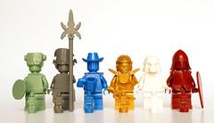 Monochrome minifigs and statues (Vanjey_Lego) Tags: lego minifig minifigs minifigure minifigures color colors monochrome plaincolor statue