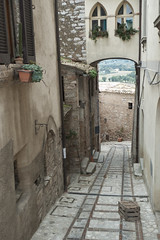 old alley (tcd123usa) Tags: italyparislondon2016 leicadlux4 alley ancienttown umbria italy