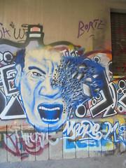 325 (en-ri) Tags: meore bianco blu faccia face viso volto torino wall muro graffiti writing
