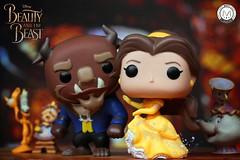 When the moment is right, confess your love.... - Lumiere (PrinceMatiyo) Tags: toyphotography cogsworth chip mrspotts lumiere disneyprincess belle popvinyl funko