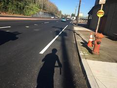 New striping on Highway 30-5.jpg (BikePortland.org) Tags: bikelanes dirty30 highway30
