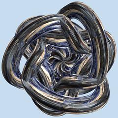 3 Tori / 3つの輪環 (TANAKA Juuyoh (田中十洋)) Tags: torus 輪環 りんかん ドーナツ トーラス どーなつ mathematica 3d cg parametricplot3d texture code program algorithm abstruct graphic design pattern structure mapping figure プログラム コード アルゴリズム テクスチャ マッピング 模様 もよう 抽象 ちゅうしょう アブストラクト グラフィック グラフィクス パターン デザイン 意匠 いしょう 構造 こうぞう 図形 ずけい symmetry 対称性 たいしょうせい シンメトリー 対称 たいしょう