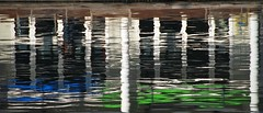 Blue into Green... (antonychammond) Tags: abstract abstraction water reflection blue green columns pillars red autofocus saariysqualitypictures