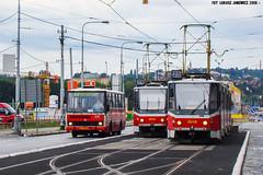 KD Tatra KT8D5 #9048 (ukasz Janowicz) Tags: kd tatra kt8d5 9048 9010 karosa b73240 5676 sparta miladyhorkov praha praga prag prague linia25 linka25 linia26 linka26 liniax1 linkax1