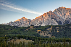 Last Light on Ishbel (Kirk Lougheed) Tags: alberta banff banffnationalpark canada canadian canadianrockies canadien ishbel mountishbel autumn fall forest landscape mountain nationalpark outdoor sunset