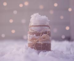Snowflakes in a Jar (miss.interpretations) Tags: winter snow chill snowflakes jar memories silly play children vintage bokeh snowydays love family weekend missinterpretations cozy canonm3 castlerock colorado