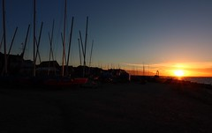 Sunset, with masts (NovemberAlex) Tags: colour light sunset kent silhouette whitstable seaside