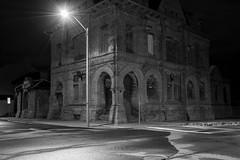 police station (frankaga) Tags: police station nikon d7200 18140 night light black white nikkor creepy abandoned