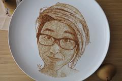 self portrait close up (pedalstrike) Tags: pedalstrike pedalstrikecom foodart selfportrait hiyoko japanese