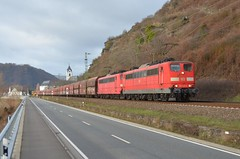 DBC 151 046 + 151 086, Kamp-Bornhofen (Sander Brands) Tags: dbc db cargo rheinstrecke orientrot 151 falns kbs