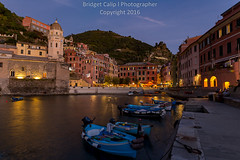 Vernazza at Blue Hour (Bridget Calip - Alluring Images) Tags: 2016 alluringimagescolorado architecture blue boats bridgetcalip buildings cinqueterre city coast colors europe green holiday italy landscape liguria manarola rock sky summer sunset travel water allrightsreserved ancient archtecture attraction beautiful cinque cliff coastline colorful copyrighted harbor houses landmark mediterranean monterosso nature outdoor peaceful picturesque riomaggiore sea seascape swim terre touristic town vacation vernazza vibrant view village usa