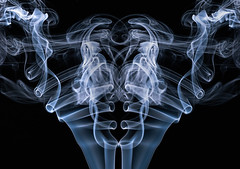 The Scholar (zuni48) Tags: smoke smokeart blackbackground blackandwhite monochrome abstract photomanipulation
