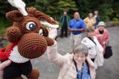 DSC01039 (The Crochet Crowd) Tags: crochetmoose amigurumi moose crochet doll alaska britishcolumbia thecrochetcrowd michaelsellick jeannesteinhilber danielzondervan crochetcruise mooseontheloose