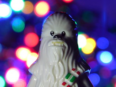 Season's grretings from Chewbacca (kelko585) Tags: minifigure minifig afol star wars chewbacca christmas