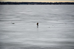 Ice fishing (Rabican7) Tags: montrealvermont icefishing frozen lake vermont northhero fishing loneliness