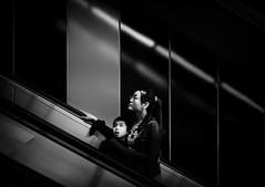 what lies ahead (dr.milker) Tags: taiwan taipei urban city street mrt houshanpi station bw blackandwhite monochrome noiretblanc blancoynegro people 台灣 台北 都市 街拍 捷運 站 後山埤 黑白 人