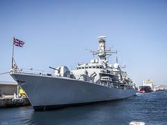 H.M.S.  SOMERSET  F 82 (ibzsierra) Tags: ibiza eivissa baleares kodak puerto port harbor royal navy royalnavi somerset f82 fragata frigate dx7590 barco ship boat vessel