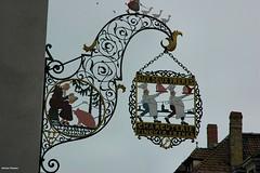 .... insegna ricamata... # 1 (antosti) Tags: francia alsazia colmar insegna metallica colorata salumificio nikon d70s