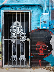 666 behind bars (Dennis Valente) Tags: 5dsr art paintphx contemporaryurbanart paintphoenix streetart sw southwestern rooseveltrowartsdistrict isobracketing valleyofthesun urbanart southwest wallart spraypaint paint hdr arizona mural phoenix 2016 rooseveltrow