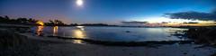 aot gwen trez (fubu.flemm) Tags: mer france lune lumière bretagne côte reflet plage argenton borddemer